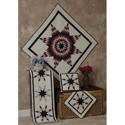 Lone Star Rust / Navy / Off White Quilts