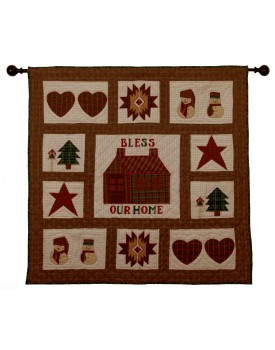 Bless our House Tea Dyed Quilts