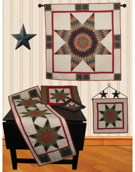 Lone Star Plaid Hand Quilted Quilts