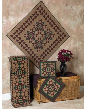 Heavenly Stars Tea Dyed Quilts