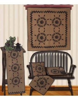 Star Garland Tea Dyed Quilts