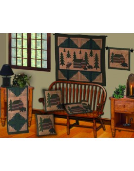 Cabin in the Woods Tea Dyed Quilts