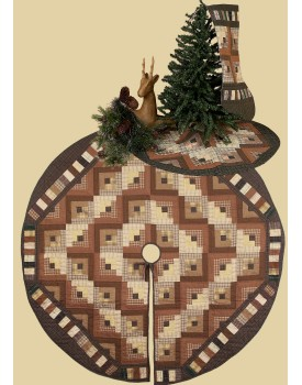 Country Log Cabin Christmas Quilts