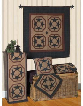 Dancing Star Tea Dyed Quilts