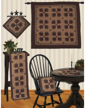 Bear's Paw Tea Dyed Quilts