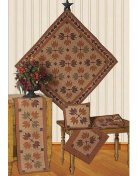 Autumn Leaves Tea Dyed Quilts