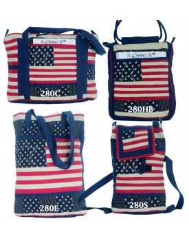 The Flag Mustard Quilted Bags