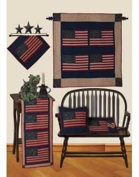 The Flag Antiqued Quilts