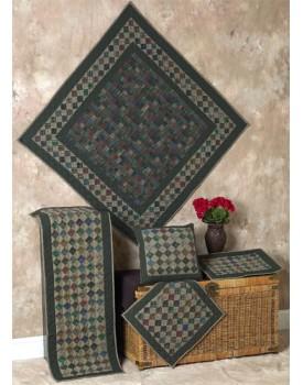Grandma's Square Dark Quilts