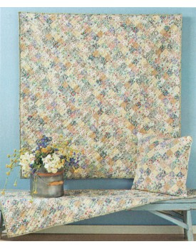 Calico Floral Square Quilts