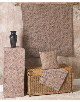 Calico Floral Square Tea Dyed Quilts