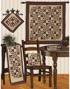 Colonial Patches Burgundy Quilts