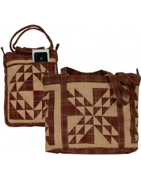 Colonial Patches Burgundy Quilted Bags
