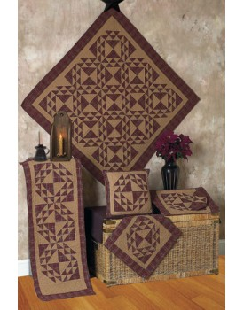 Colonial Patches Burgundy Tea Dyed Quilts