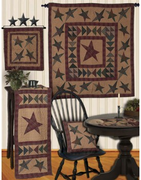 Wishing Star Tea Dyed Quilts