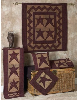 Colonial Star Tea Dyed Quilts