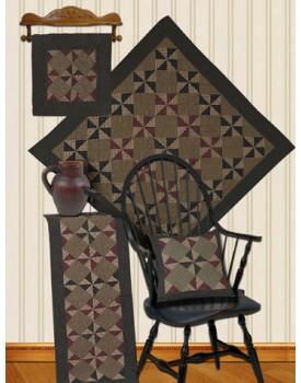 Pinwheel Tea Dyed Quilts