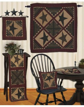 Cabin Star Tea Dyed Quilts