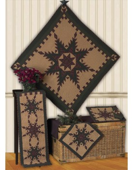Feathered star Tea Dyed Quilts