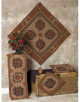 Harvest Log Cabin Tea Dyed Quilts