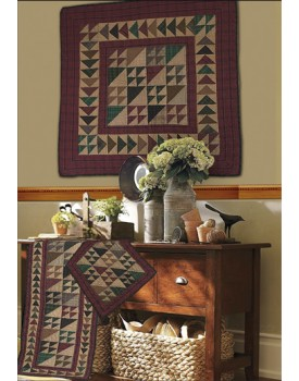 Rustic Flying Geese Tea Dyed Quilts