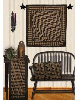 Primitive Squares Tea Dyed Quilts