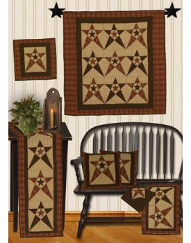 Primitive Country Star Tea Dyed Quilts