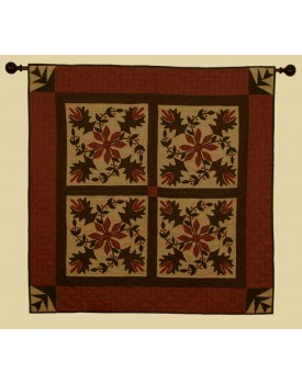 Poinsettia Tea Dyed Quilts