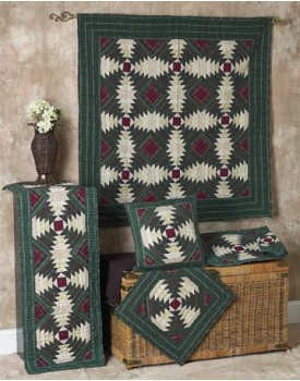 Pineapple Log Cabin Quilts