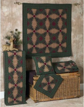 Pineapple Log Cabin Tea Dyed Quilts