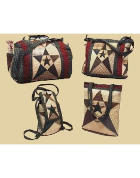 Primitive Star Quilted Bags