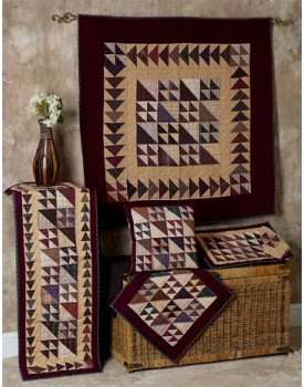 Flying Geese Tea Dyed Quilts